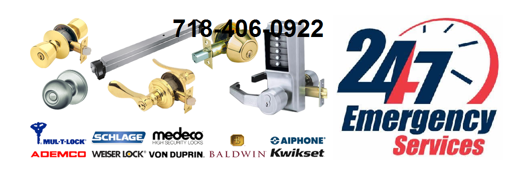 Queens New York Emergency 24 Hour Emergency locks , doors and all kind of Commercial Residential locks and doors repair service and automotive car key Licensed Locksmith Services on Rockaway  Blvd NY 11416